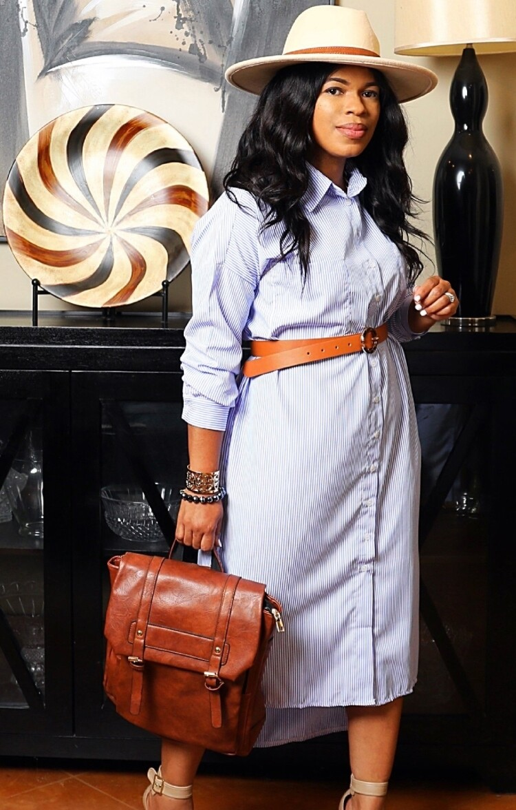 Style Drops  Over-Sized Shirt Dress