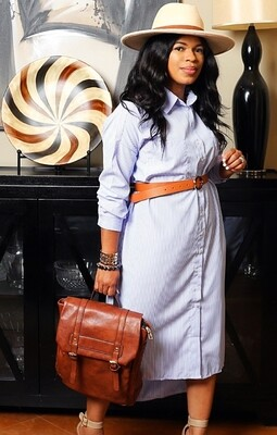 Style Drops| Over-Sized Shirt Dress