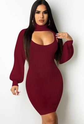 Style Drops|Sexy Keyhole Knitted Dress