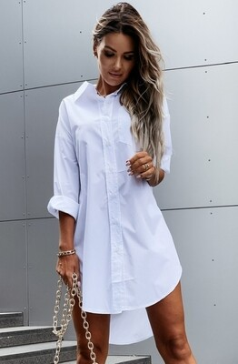 Style Drops| Street Style High Low Blouse Dress
