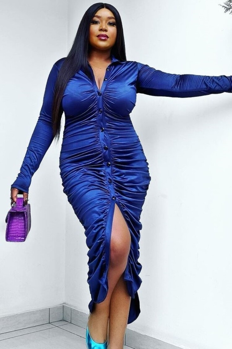 Style Drops| Front Button-Maxi Shirt Dress