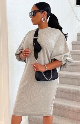Style Drops| Sexy Pullover Sweatshirt Dress