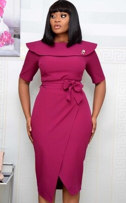 Style Drops|The Business Wrap Midi Dress