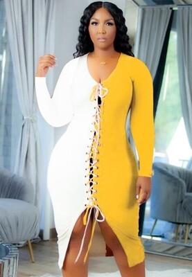 Style Drops| Lace-up Midi Dress