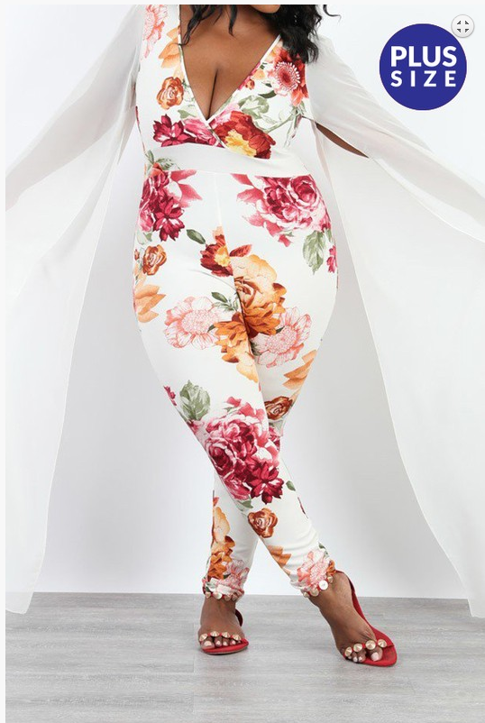 WOMEN PANTS| Floral-Print-Jumpsuit