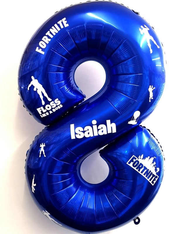 Single digit fornite personalised balloon