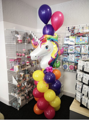 Personalised Unicorn Balloon Tower