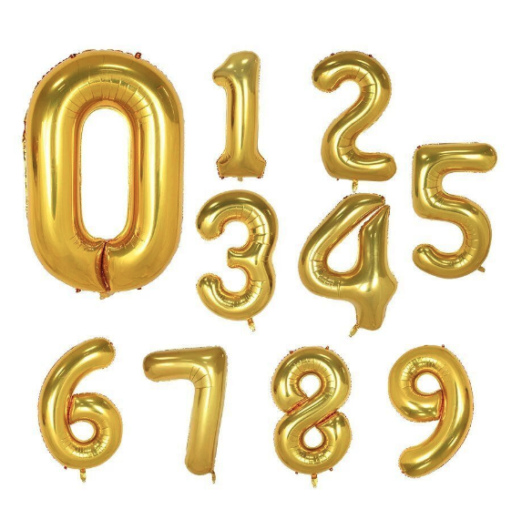 Gold 34 Inch Foils