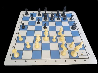 Palm Beach Chess Thin Mousepad Board & Chess Pieces