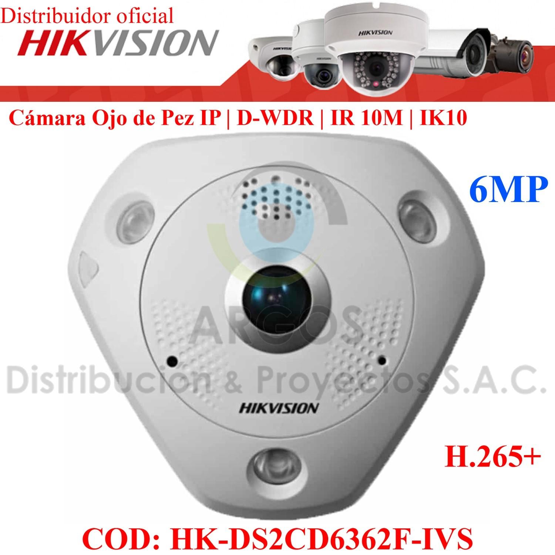 OJO DE PEZ IP 6Mp   WDR 120 dB    14 tipo de vistas   IR 8m   PoE   Slot SD   Audio/Alarma