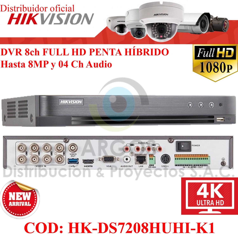 NUEVO! DVR 08CH FULL HD HASTA 8MP 1HDD 8 AUDIOS COAXITRON | PENTA HÍBRIDO HIKVISION