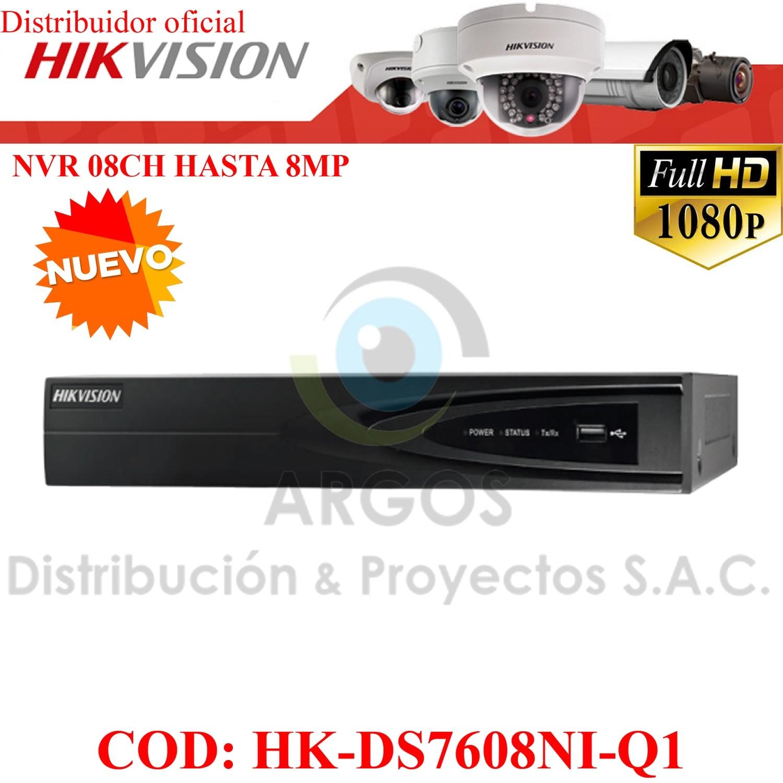 NVR 8Ch   HASTA 8Mp   Salida HDMI/VGA   Soporta 1HDD   Soporta 8Ch IP