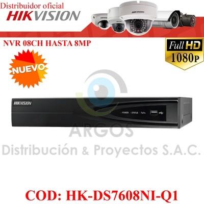 NVR 8Ch | HASTA 8Mp | Salida HDMI/VGA | Soporta 1HDD | Soporta 8Ch IP