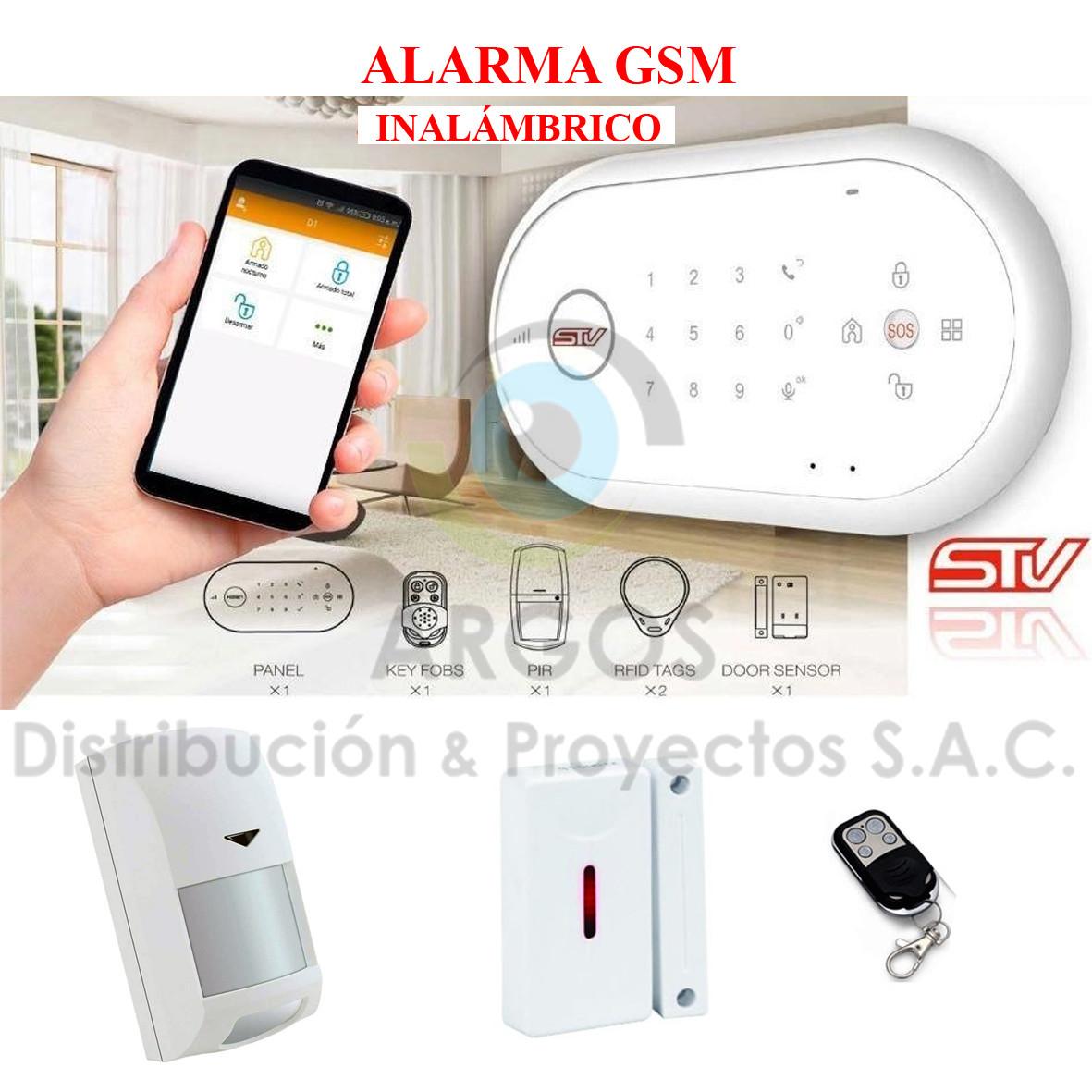 ALARMA GSM INALÁMBRICO STV - D1