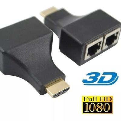 KIT EXTENSOR EXTENDER HDMI UTP RJ45 HASTA 30 METROS
