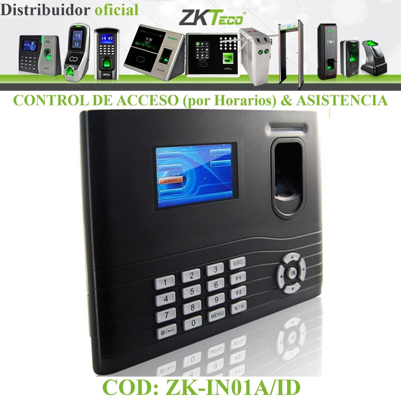 CONTROL DE ACCESO (por Horarios) & ASISTENCIA: HUELLA DIGITAL Y/O TARJETA Y/O CLAVE | TCP/IP, USB, RS-485 | INTERIOR