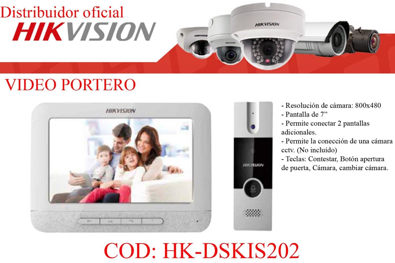 """VIDEO PORTERO ANALOGO HIKVISION 7"""""""