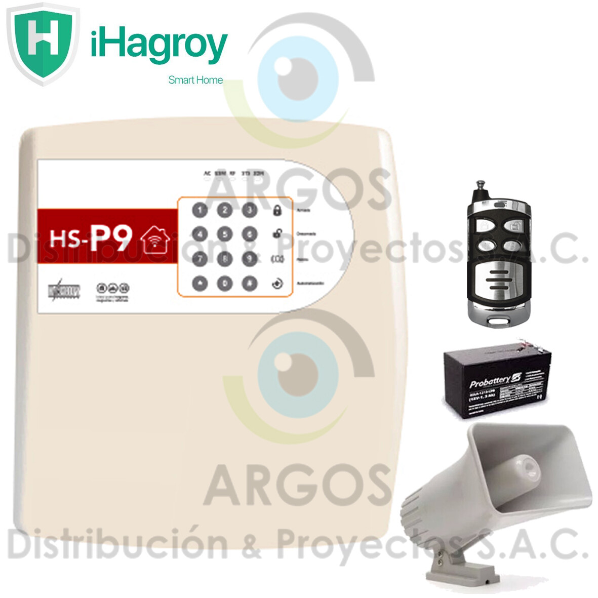 KIT BASICO ALARMA DISUASIVA GSM SMART P9 HAGROY