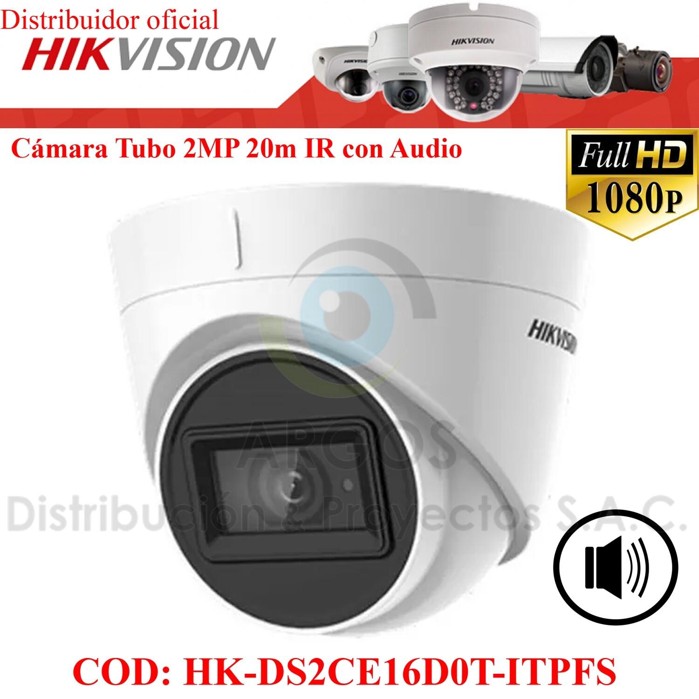 ¡Nuevo! CAMARA DOMO FULL HD 2MP CON AUDIO | IR 20M
