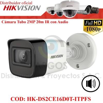 ¡Nuevo! CAMARA TUBO FULL HD 2MP CON AUDIO   IR 20M