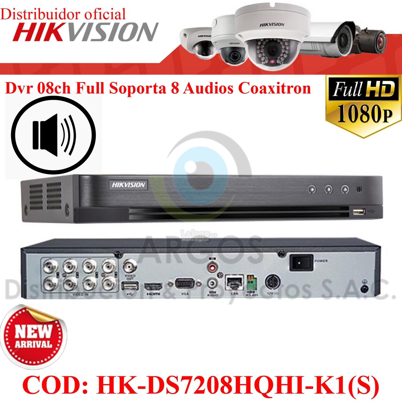¡Nuevo! DVR 08CH FULL HD 1080P   SOPORTA 8 CAMARAS CON AUDIO   PENTA HIBRIDO   HIKVISION
