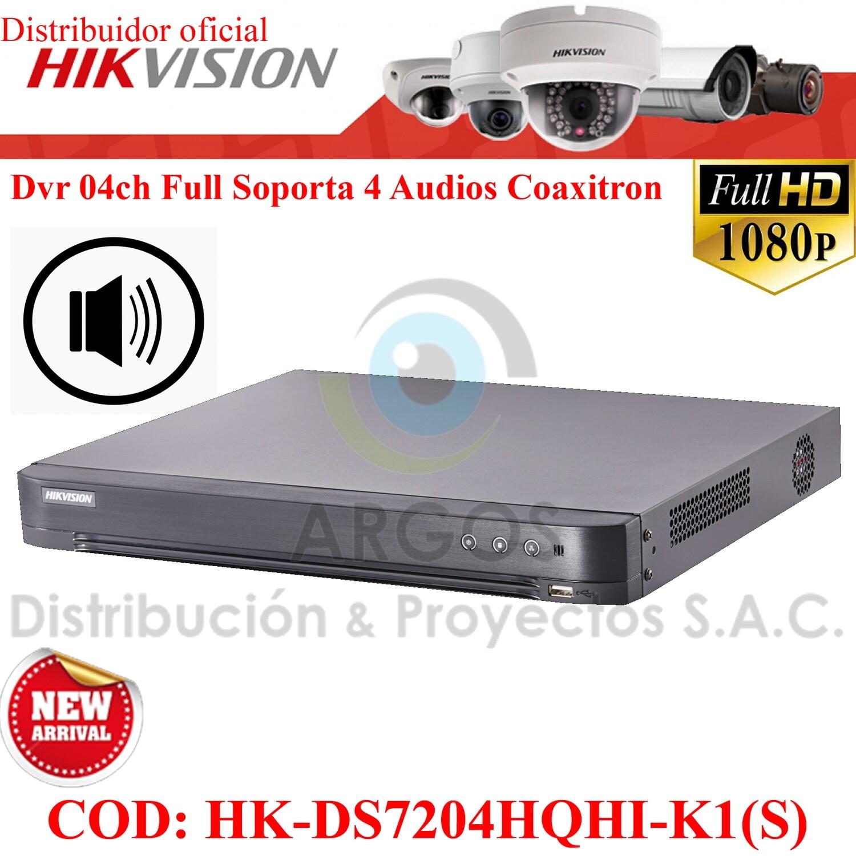 ¡Nuevo! DVR 04CH FULL HD 1080P | SOPORTA 4 CAMARAS CON AUDIO | PENTA HIBRIDO | HIKVISION