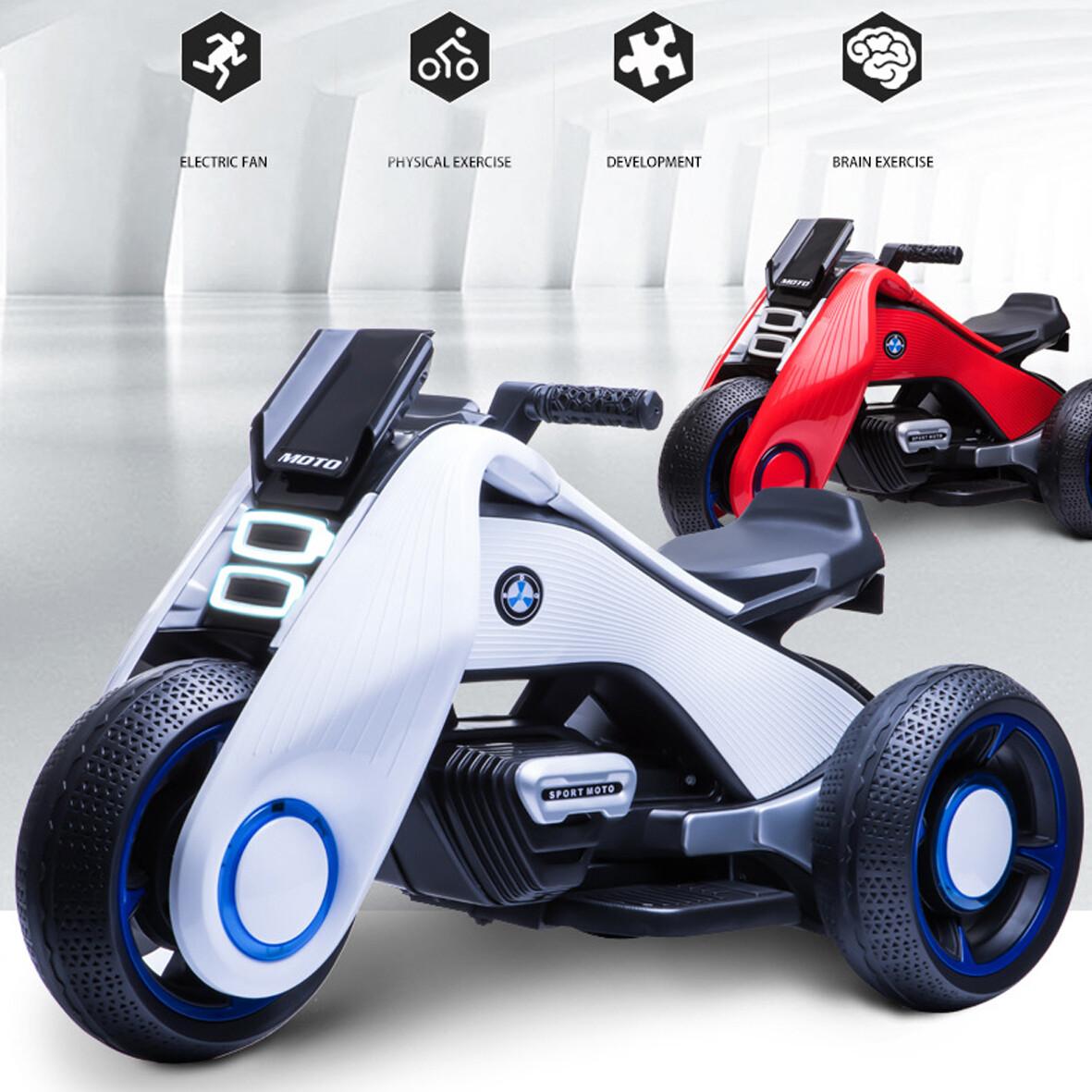 MOTO ELECTRICA MODELO FUTURISTA | LED | USB | MUSICA | COLORES