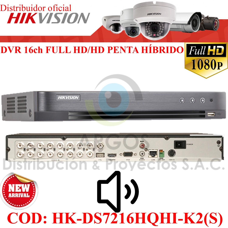 ¡Nuevo! DVR 16CH FULL HD 1080P | SOPORTA 16 CAMARAS CON AUDIO | PENTA HIBRIDO | HIKVISION