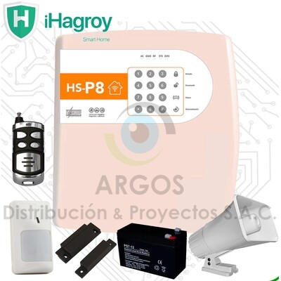 KIT BASICO ALARMA ANTI ROBO TCP/IP SMART P8 HAGROY