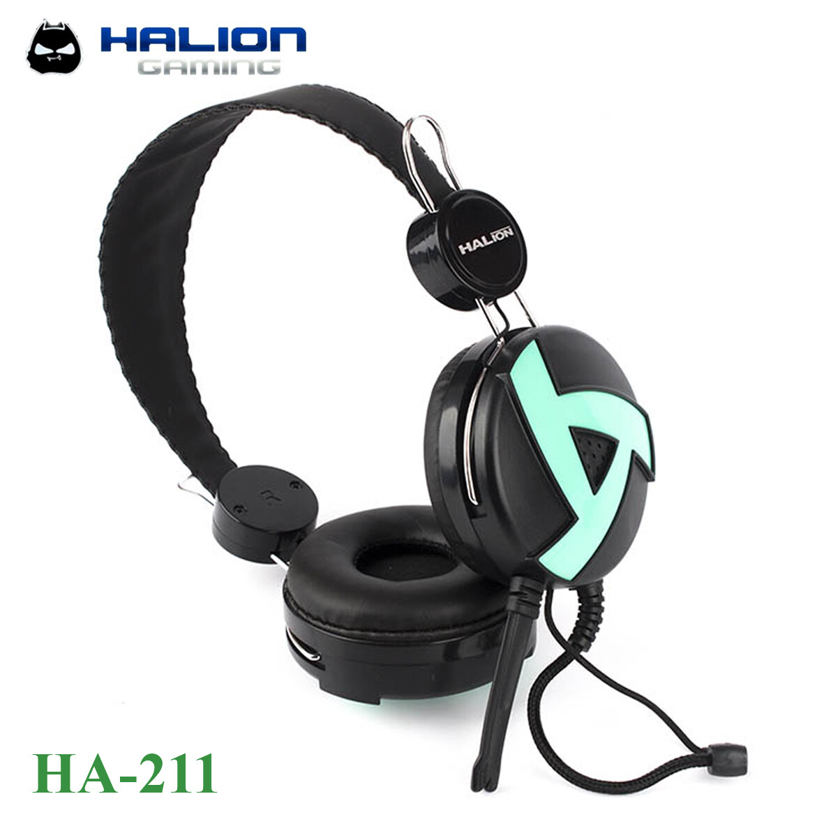 AUDIFONO GAMING HALION HA-211 VERDE GAMER