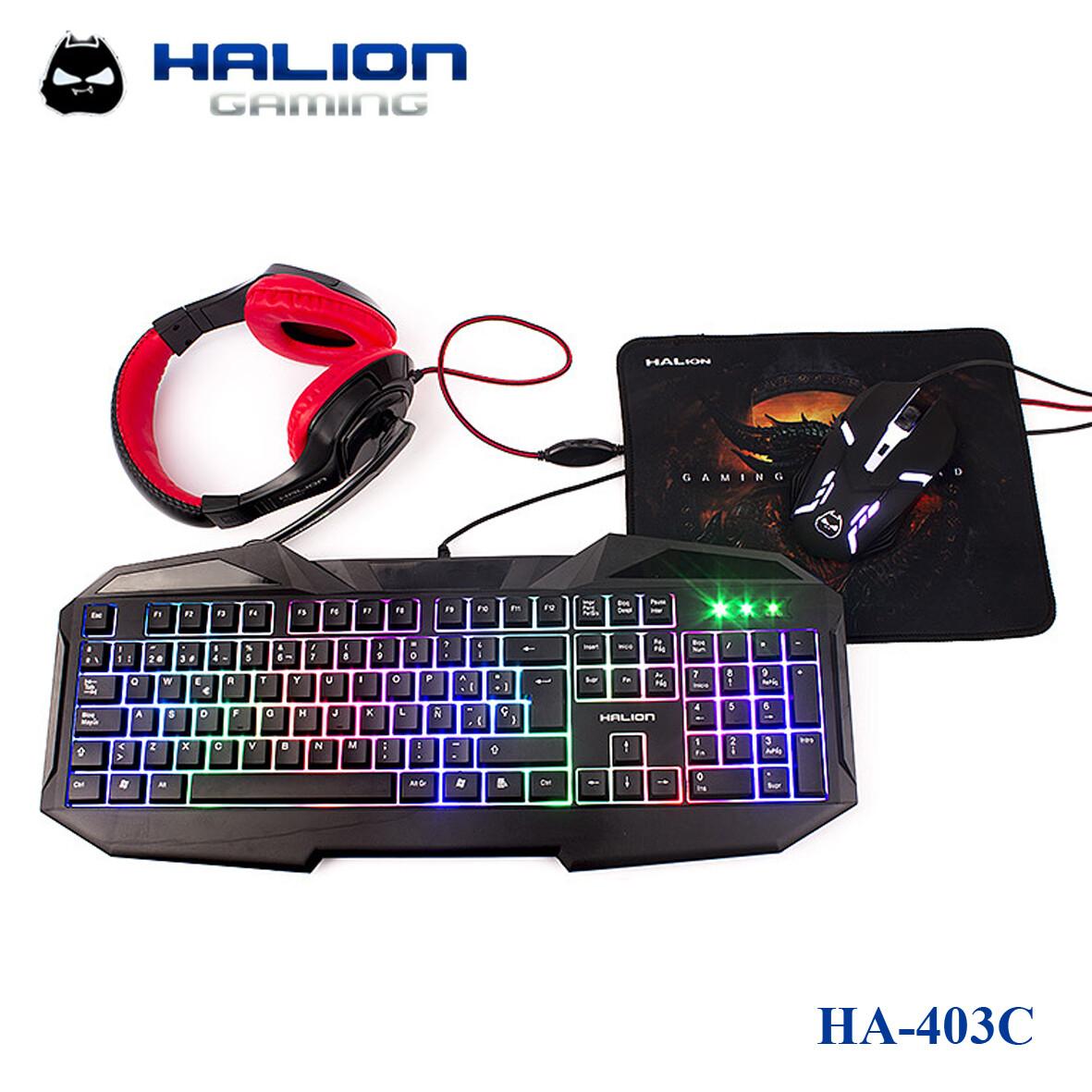 COMBO GAMER 4 EN 1 HALION HA-403C HUNTER
