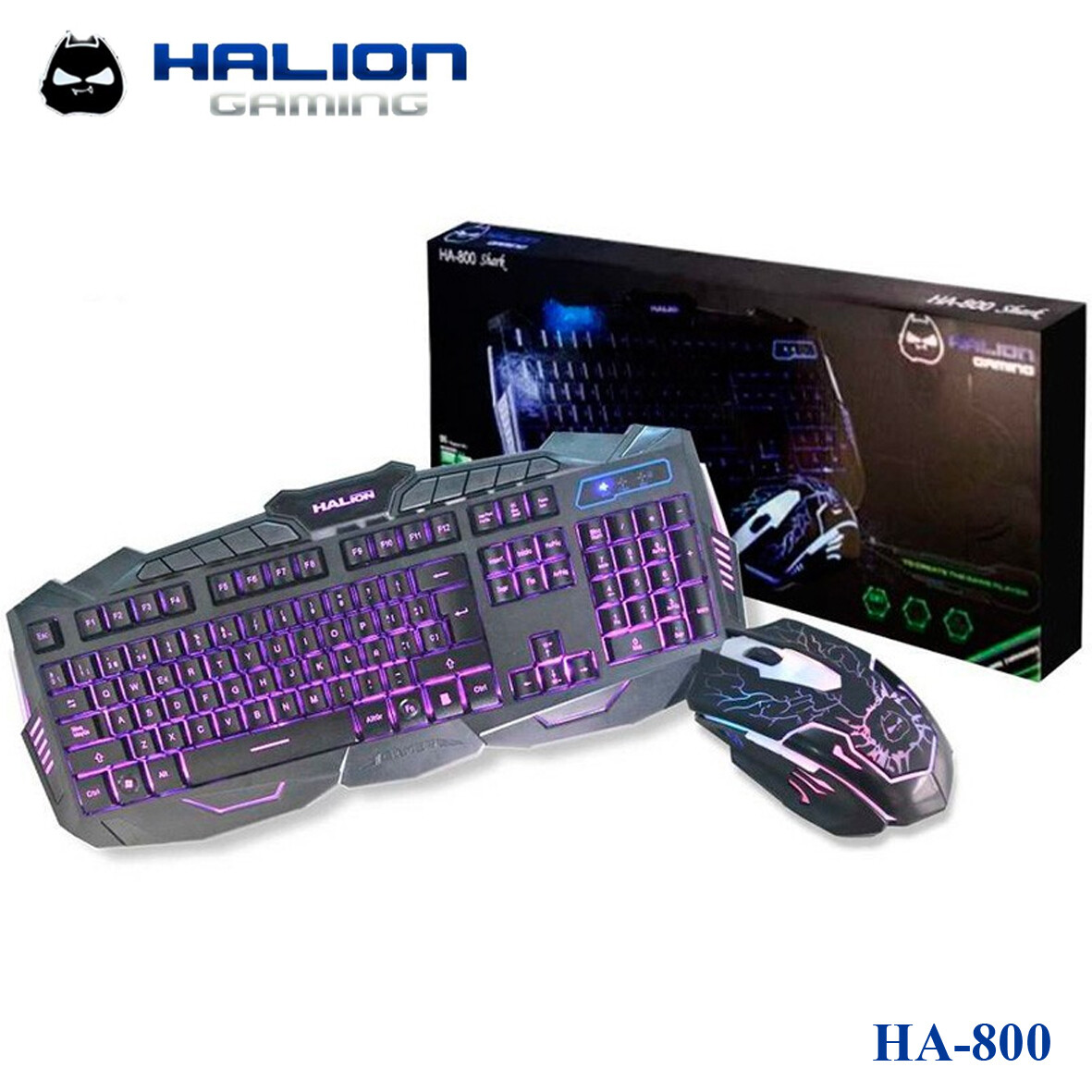 COMBO TECLADO Y MOUSE GAMER HALION HA-800