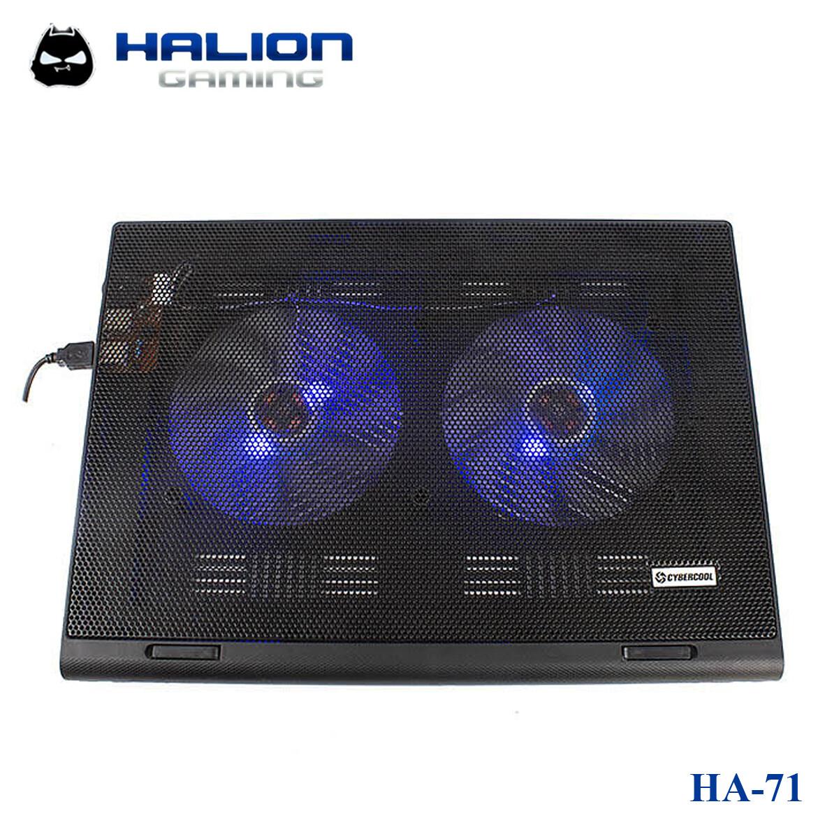 COOLER PARA LAPTOP 2 VENTILADORES CYBERCOOL HALION HA-71