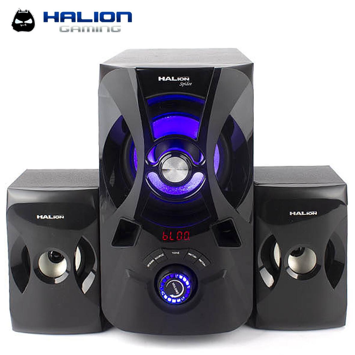 PARLANTE SUBWOOFER HALION SPIDER HA-844BT 120W   BLUETOOTH   CONTROL REMOTO   FM   SD+USB   LED