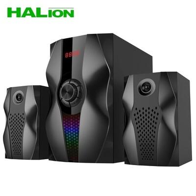 PARLANTE SUBWOOFER HALION RAVEN HA-G51BT 100W   BLUETOOTH   CONTROL REMOTO   FM   SD+USB   LED