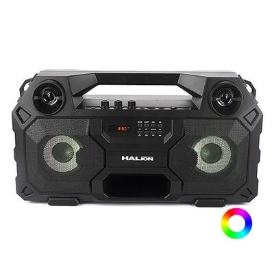 RADIO PARLANTE PORTATIL BLUETOOTH   FM   USB   TF CARD   RGB   HALION HA-R41 120W