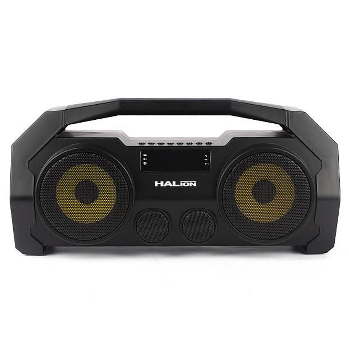 RADIO PARLANTE PORTATIL BLUETOOTH | FM | USB | TF CARD | HALION HA-R34 80W