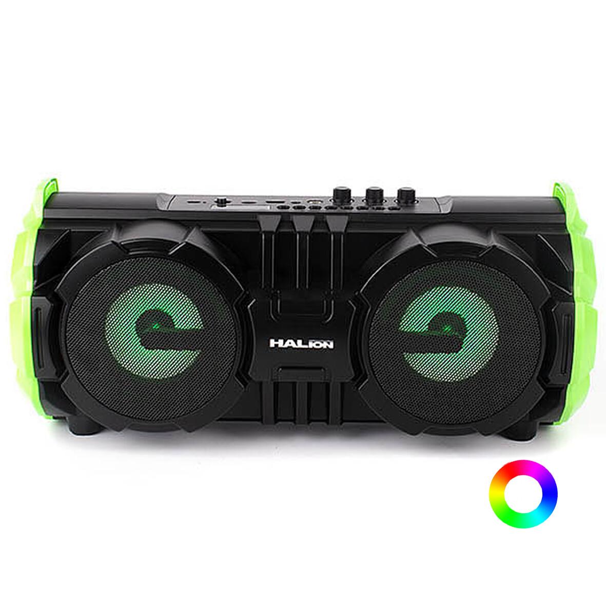 RADIO PARLANTE PORTATIL BLUETOOTH | FM | USB | TF CARD | RGB |  HALION HA-R39 100W