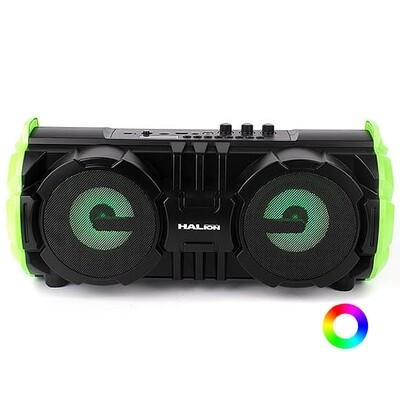 RADIO PARLANTE PORTATIL BLUETOOTH   FM   USB   TF CARD   RGB    HALION HA-R39 100W