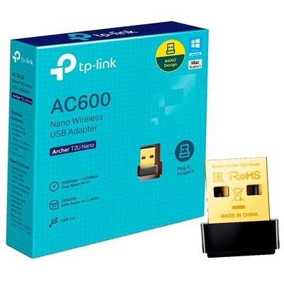 ADAPTADOR WIFI USB ARCHER T2U NANO DOBLE BANDA TP LINK