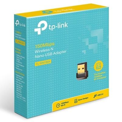 ADAPTADOR USB INALAMBRICO NANO WN725N 150MBPS 2.4GHZ TP LINK