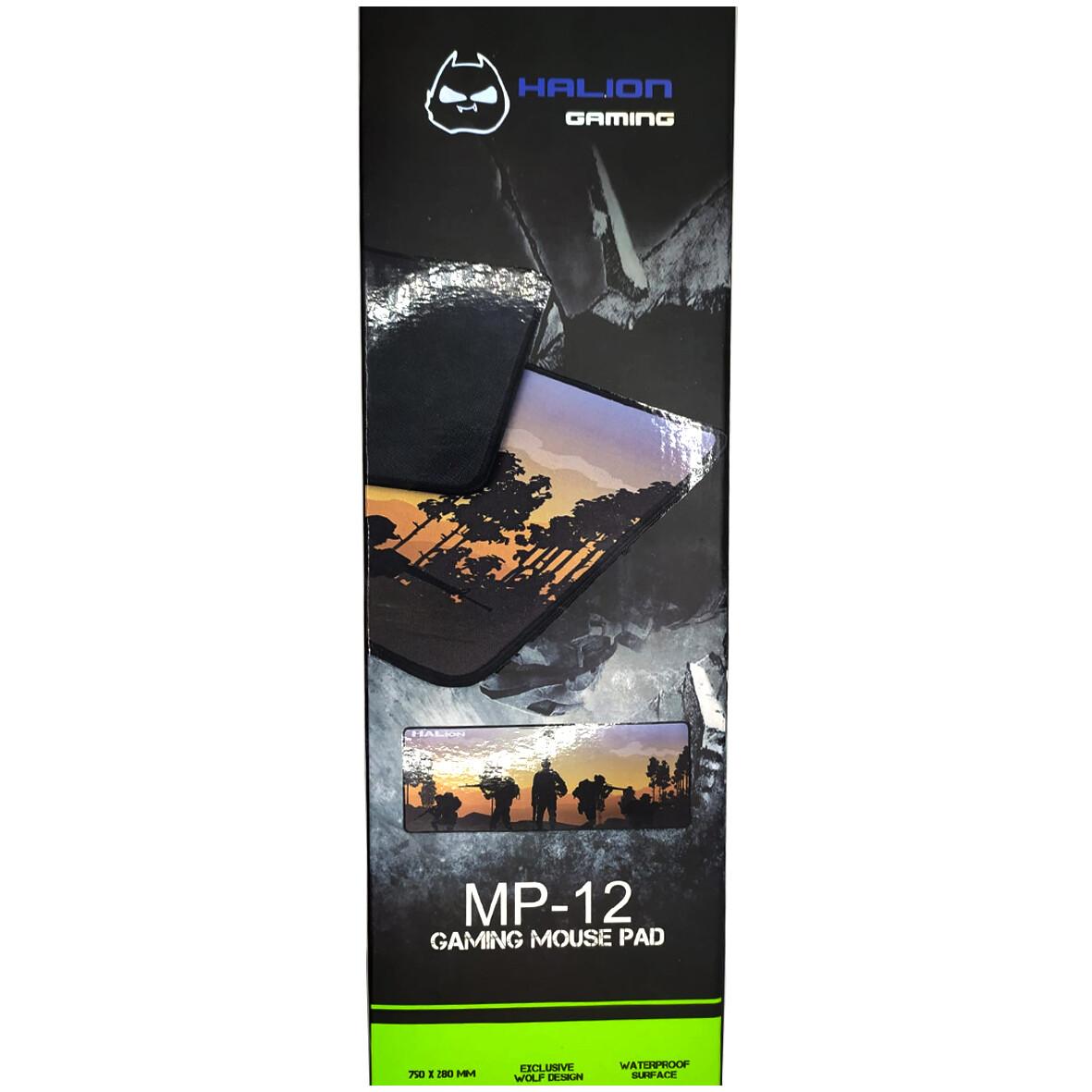 PAD MOUSE GAMER XL GRANDE 75x28CM HALION MP-04