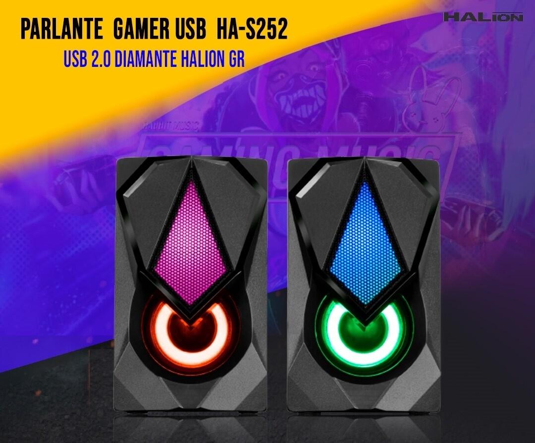 PARLANTE GAMER DIAMANTE CH HA-S252 PARA PC