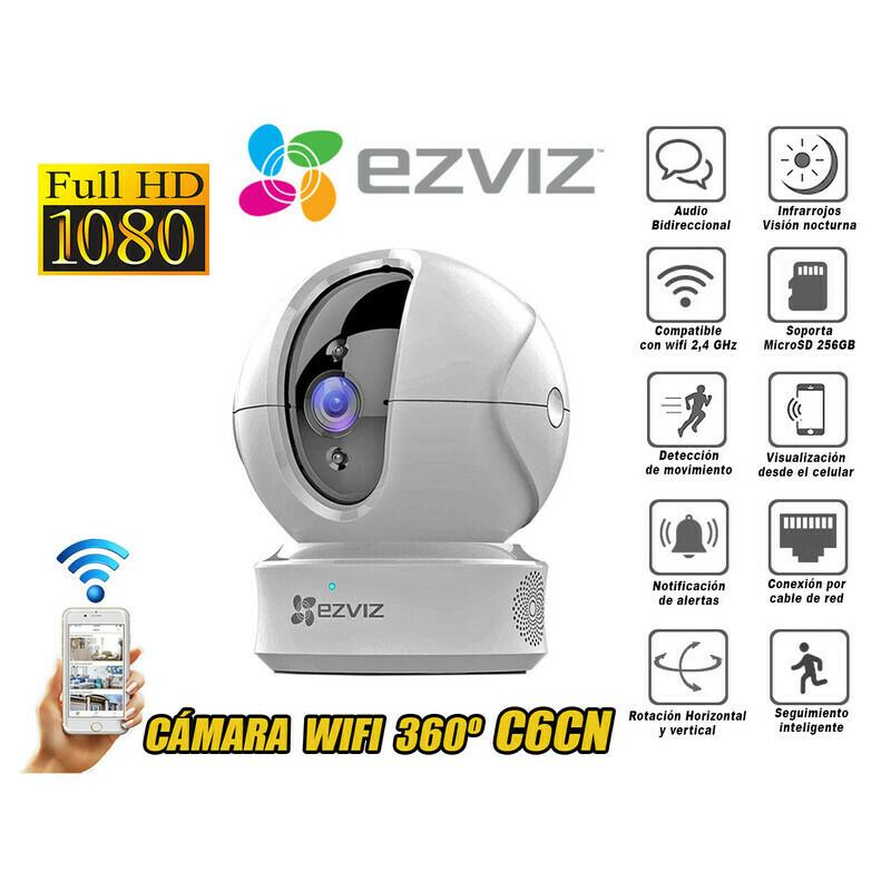 CÁMARA IP PT EZVIZ | FULL HD 1080P | WIFI | CON SEGUIMIENTO | ALARMA