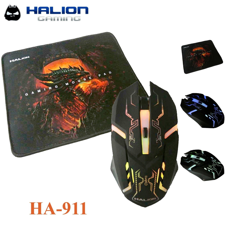 COMBO HALION 4D COBRA ( HA-911P ) PAD MOUSE+MOUSE
