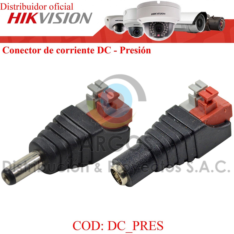 CONECTOR DE CORRIENTE A PRESIÓN