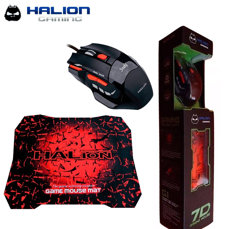 COMBO HALION 7D COBRA ( HA-915 ) PAD MOUSE+MOUSE