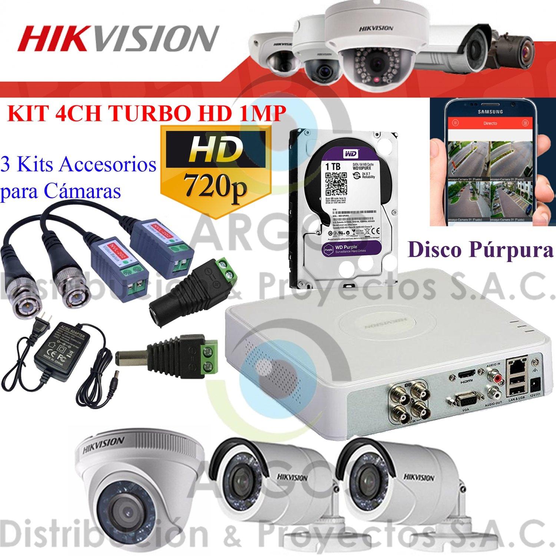 KIT DE 3 CÁMARAS COMPLETO CON HDD 1TB - HD 720P