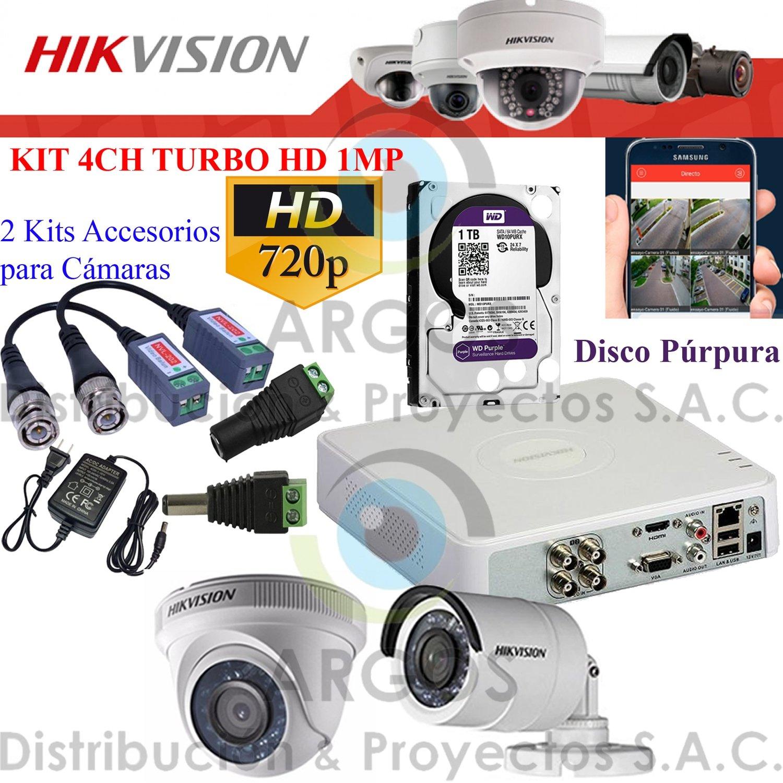 KIT DE 2 CÁMARAS COMPLETO CON HDD 1TB - HD 720P