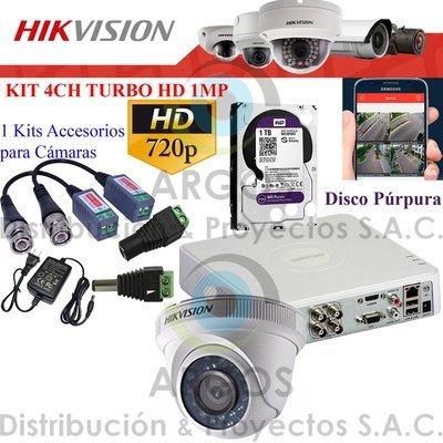 KIT DE 1 CÁMARAS COMPLETO CON HDD 1TB - HD 720P